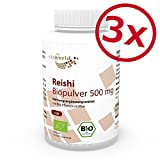 3er Pack Vita World Reishi Pulver Bio Qualität 500mg 360 Kapseln Apotheker-Herstellung Ling Zhi