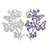 TOOGOO Metall Ausstecher von Abschneiden Schablone Vorlage fuer DIY Einklebebuch Album Papier Karte Handwerk Dekoration (Schmetterling)