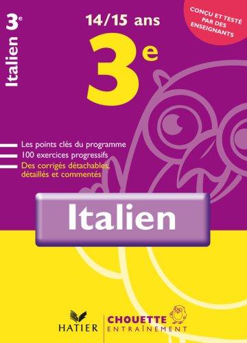 Italien 3e : 14-15 Ans
