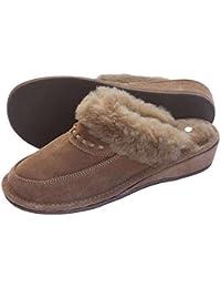 der-Fellmann Encaje Damen Pantoffeln beige Lammfellschuhe Schuhgröße EUR 36