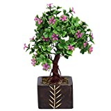 #8: Random 3 Branched Bonsai Tree with Small Purple Flowers