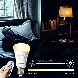 LAMPAOUS LED ampoule 9W E27 dimmable, télécommande réglable, 60W ampoule halogène équivalent. 1PCS (télécommande à acheter séparément)