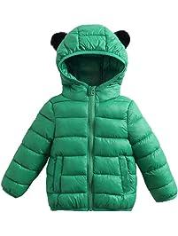 68169c7417c34 Enfant Blouson à Capuche Bébé Doudoune Matelassée Veste à Manches Longues  Ski Vêtement