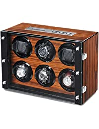 WATCH Winder carga relojes Palisandro relojes para 6relojes automáticos