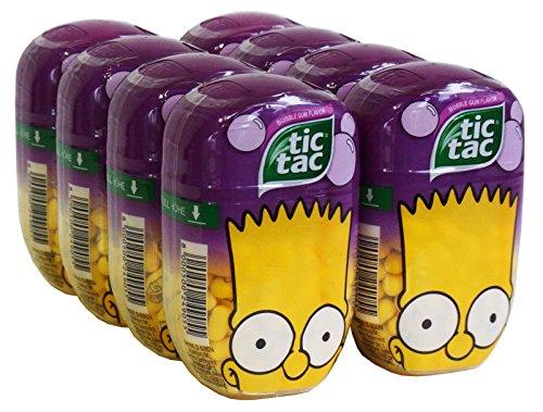 tic tac Simpsons Maxi Pack Bart Simpson édition Bubble Gum 98g - Lot de 8