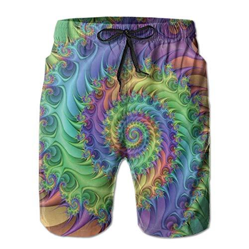 Generic Mens Casual Trippy Tie Dye Mittellange Sommer Kordelzug Strand Shorts Surfing Trunks Hosen XL - Junioren Tie Dye
