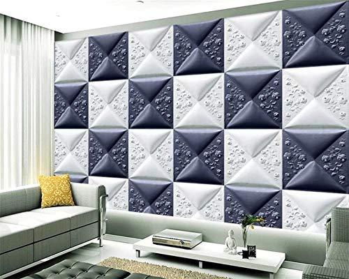 Lxsart Benutzerdefinierte Tapete 3D Stereo Wandbild exquisite Leder schnitzen weiche Tasche Wandbild Hintergrund Tapete-400cmx280cm -