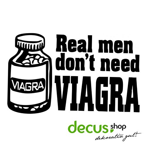 REAL MAN DON`T NEED VIAGRA L 2351 // Sticker OEM JDM Style Aufkleber (Rosa)
