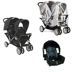 Staduim Duo - Oxford, Raincover,Graco Junior Baby Group 0+ Car Seat - Sport Luxe