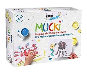 KREUL 29101 - Pintura de Dedos mucki Conjunto de 5 Pintamos con Las Manos y los Dedos