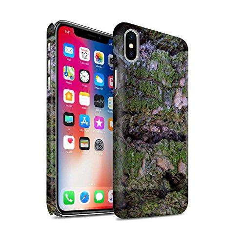 STUFF4 Matte Snap-On Hülle / Case für Apple iPhone 6S+/Plus / texturierte/braun Muster / Baumrinde Kollektion Moos/Feucht