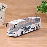 Domybest 1pcs Modello dell'Autobus di Simulazione in Lega Giocattoli Educativi con Musica e Luce per Bambini, Scala 1:50