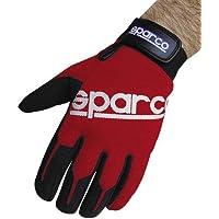 Sparco -  Guanti protettivi da guida e meccanica, flessibili, modello Meca, S, rosso e nero
