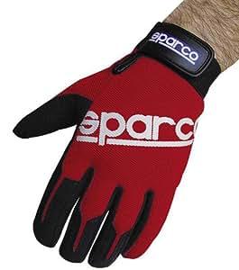 Sparco Paire de gants de conduite flexibles Meca Rouge Taille L