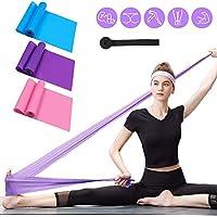 RLIRLI Bandas de Fitness Conjunto de 3 Bandas de Gimnasia Bandas de Resistencia Bandas elásticas de Estiramiento Banda de Entrenamiento para Yoga Entrenamiento de Fuerza elástica