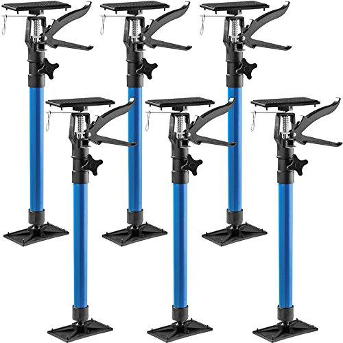 TecTake Türspanner Teleskopstange   stufenlos verstellbar   leichte Handhabung - diverse Modelle (6er Set blau   Nr. 402614)