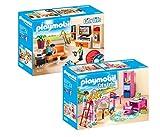 Playmobil Casa Moderna Set: 9267 Salón + 9270 Habitación Infantil