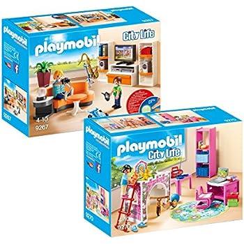 Playmobil Meubles Villa Moderne Set: 9267 Salon Équipé & 9270 ...