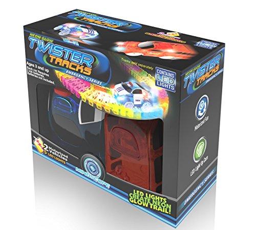 Mindscope Twister Tracks Neon Glow in Dark Add On Emergency Car Series set of 2 - Serie-track-beleuchtung