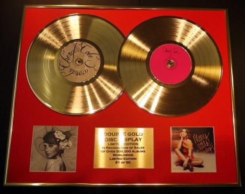 """CHERYL COLE/double CD Disco d'oro & Foto Display/Edizione LTD/Certificato di autenticità/""""3 WORDS"""" & """"MESSY LITTLE ..."""