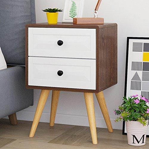 Comodino cassetti camera da letto armadietti piedi di legno multifunzione cassettiera (colore : 3, dimensioni : double drawers)