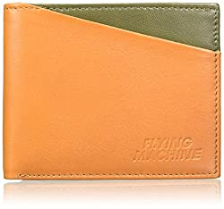 Flying Machine Tan Green Mens Wallet (FMAW0234)
