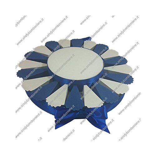 Struttura torta bomboniera 20 fette bicolore portaconfetti fai da te confezione (9)