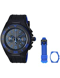 Technomarine Men's 'Cruise' Quartz Stainless Steel and Silicone Casual Watch, Color:Black (Model: TM-115306)