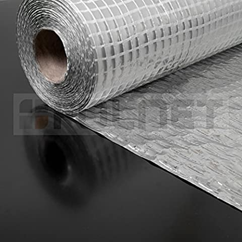 Vapour Barrier and Waterproof Thermal Insulation Aluminium Foil Membrane - Suitable for use in Walls, Floors and Roofs - 1.5m x 50m (75 SQ/M) - 110 G/SM - Single Roll - Free Next Day UK Delivery - Large Discounts Available on Multi