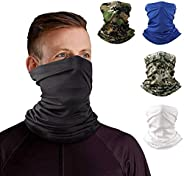 Neck Gaiter Headband Tube Bandana Elastic Scarf Sunscreen Balaclava Wicking Face Mask Dust Sun UV Protection F