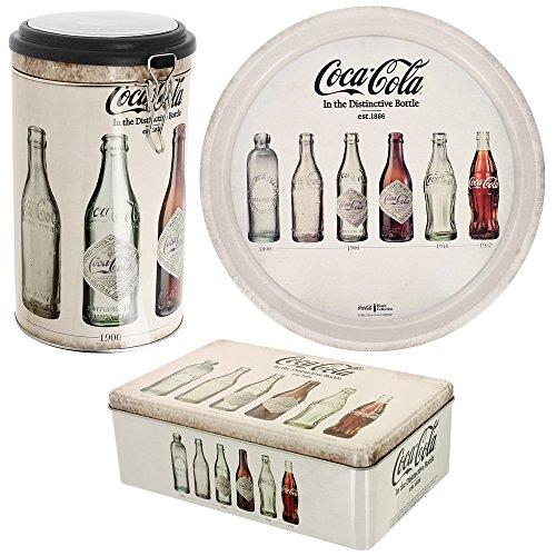Coca Cola - Set Ensemble Coffret 3 Pièces Coca Cola Compagny Story Déco rétro Vintage