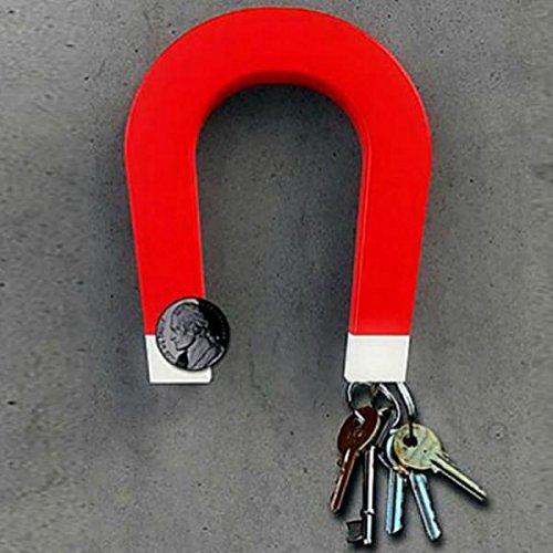 Accroche-clés mural Fer Rouge magnétique Bitten