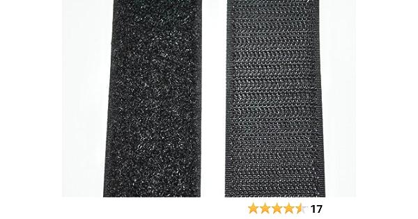 2 Meter 10 mm//n/ähbar TEXTIMO Klettband//Hakenband L/ÄNGE FREI W/ÄHLBAR 2 x 1 m Flauschband SCHWARZ