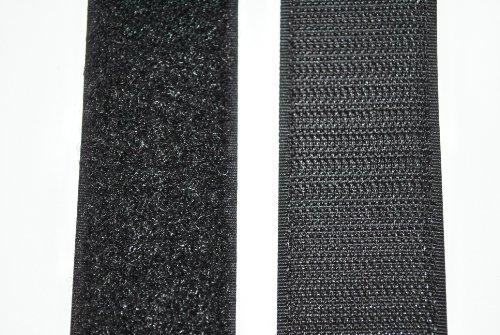 Klettband schwarz 50 mm breit je 1 Meter Klettverschluss Hakenband und Flauschband