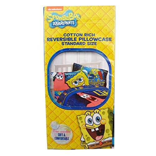 nickelodeon-spongebob-squarepants-cotton-rich-reversible-pillowcase-standard-size-by-spongebob-squar