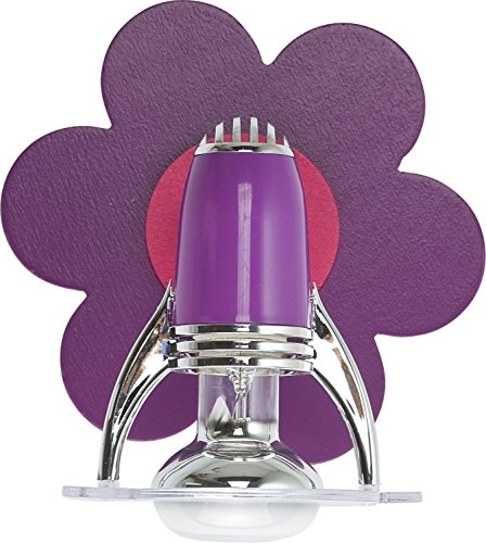 Mignon Luminaires pour Enfants en violet Rose E14 jusqu'à 40 Watt 230V Applique murale contreplaqué Plastique & Métal Chambre à coucher d'enfants Suspension/plafonnier éclairage intérieur