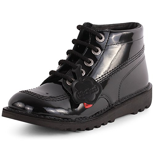 Kickers Kick Hi Core, Bottes Fille Black Patent