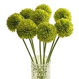 Longra Wohnaccessoires & Deko Kunstblumen 5pcs Lavendel Ball künstliche Seide Blumen Blumenstrauß Home Hochzeit Party Dekoration Künstliche Fake Blume (green)