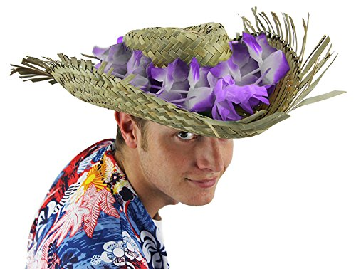 Beachcomber Hat - ILOVEFANCYDRESS Hawaiian Hat Fancy Dress Zubehör