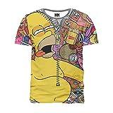 Noorhero - Camiseta de Hombre - Homer Drunk