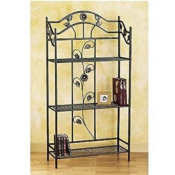 Provence Outillage 03110 Etagère décorative métal Longueur 76 Profondeur 31 Hauteur 146 cm