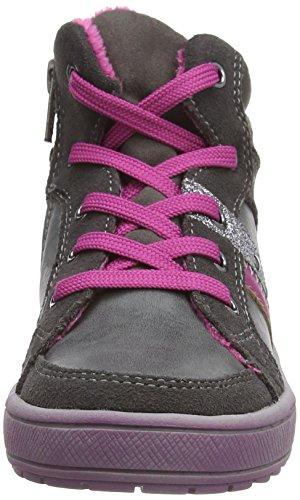 s.Oliver 36107, Sneaker alta Ragazzo Grigio (Grau (Grey Comb 201))