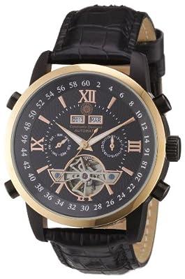 Constantin Durmont Calendar CD-CALE-AT-LT-IPRG-BK - Reloj automático para hombre, correa de cuero color negro de Constantin Durmont