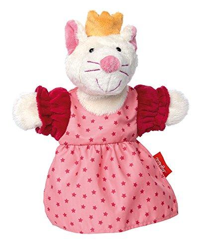 sigikid, Mädchen, Sweety Handpuppe Katzen-Prinzessin, My little theatre, Rosa, 41442
