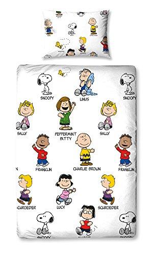 Copripiumino Snoopy.Character World Set Con Copripiumino Per Letto Singolo Motivo