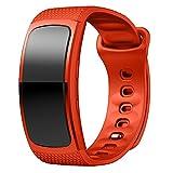 Hongfei Pour Samsung Gear Fit2 SM-R360 Bracelet de remplacement en silicone Bracelet de montre de sport Petite taille - rose
