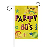 My Daily Party im Stil der Eighties Dekorative doppelseitig Garden Flagge 12 x 18 & 71,1 x 101,6 cm