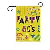 My Daily Party im Stil der Eighties Dekorative doppelseitig Garden Flagge 12x 18& 71,1x 101,6cm