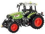 Tronico 10064 - Metallbaukasten Traktor Claas Arion 430 mit Fernsteuerung, Junior Serie, Maßstab 1:24, 547-teilig, grün