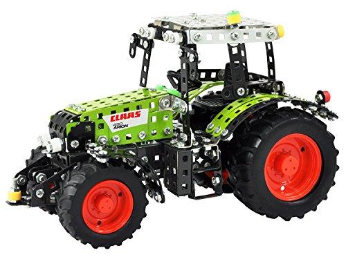 Tronico 10064 - Metallbaukasten Traktor Claas Arion 430 mit Fernsteuerung, Junior Serie, Maßstab 1:24, 547-teilig, grün*